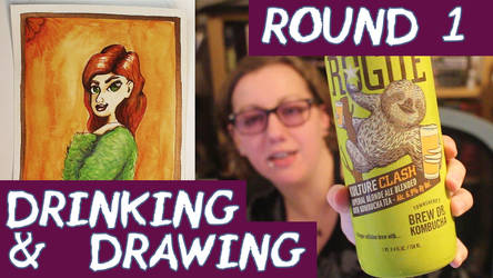 Youtube Video Drinking and Drawing Round 1 by BiteMeFox