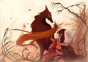 The Maiden and the Wolf by MadEye01