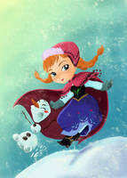 Anna and Olaf by MadEye01