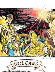 Volcano from Card Wars by DGGibbons