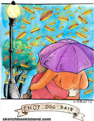Hot Dog Rain from Card Wars by DGGibbons