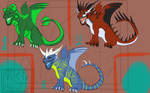 CLOSED - FREE Chibi dragon adoptables - CLOSED by NoctaAdopts