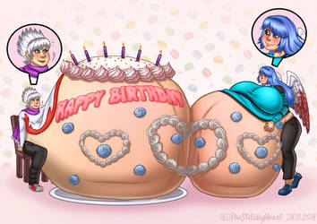 COM: Birthday bellies by TheStitchyHeart
