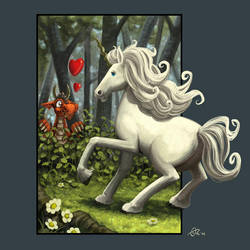 Dragon Hjort 4: The unicorn by OrcOYoyo
