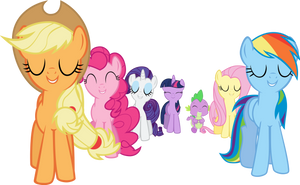 The Mane 6 - Trust Yourself and You Cannot Miss by Firestorm-CAN