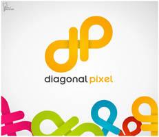 Diagonal Pixel Logo by saltshaker911