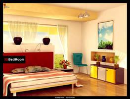 3d Bed Room by saltshaker911