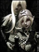 Szin and Shiz Dolls by KMCgeijyutsuka