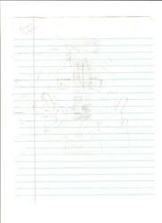 Konata Pencil Art by Waterclaw