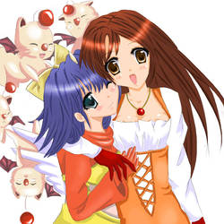 Eiko and Garnet by Kuroi-Rabbit