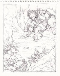 Stroll with uncle Alphard by Naa-