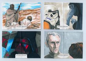 Topps Star Wars Illustrated A New Hope sketch set1 by DarklighterDigital