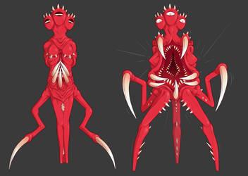 Red Monster by blinkpen