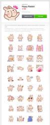 LINE Stickers 'Hippy Rabbit' by nakashima3