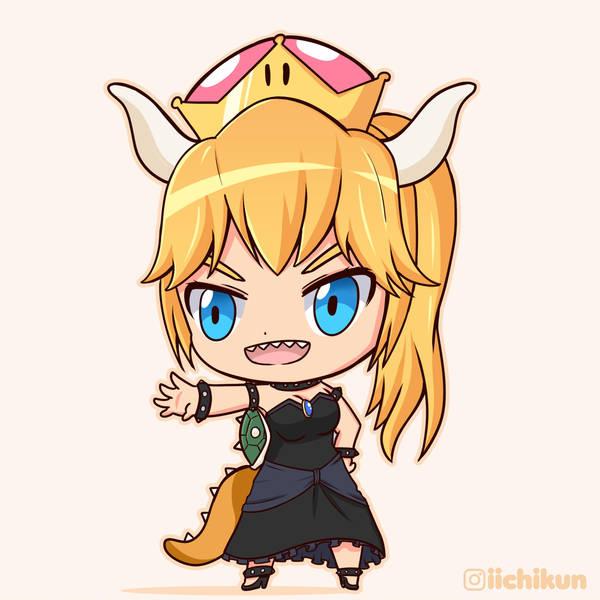 Chibi Bowsette by iichikun