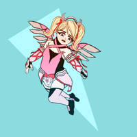 Daily Regress - Pink Mercy (Overwatch) by Ar-Kayn