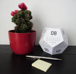 3D multipurpose desk calendar - paper calendar by celiah
