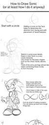 Tutorial: How to Draw Sonic by rinkunokoisuru