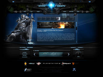 Divine Knights Full Flash Gaming Site by Nulumia