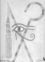 Ancient Egyptian Symbols by Boucle-dOr