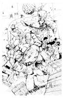 Captain vs Red Skull Inks by acosorio