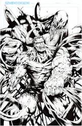 Hulk vs Venom by acosorio