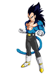 Super Saiyan 4 Blue Vegeta by obsolete00