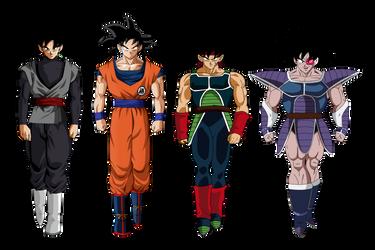 Goku Bardock Goku Black Turles T.O.P by obsolete00