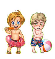 APH: Summer Chibis by berrixkisses
