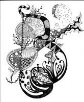 The Fallout :: A Zentangle by theliteratepenguin