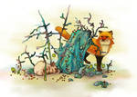 Rabbit and Fox by LottaLiberta
