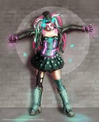 Cyberpunk Dia de los Muertos by gameofdolls
