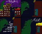 skulkey versus Godzilla by skulkey