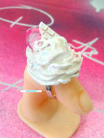 Large Whip Cream Ring by royalquartz