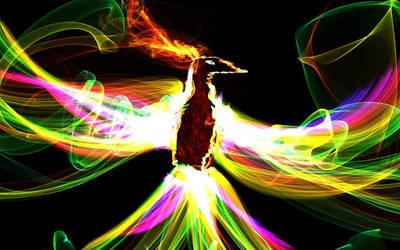 rainbow bird by wolf44luver