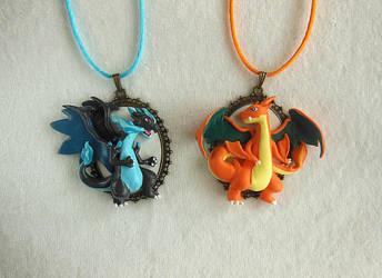 Pokemon Mega Charizard X / Y Cameos by LittleBreeze