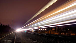 Passing train by wchild