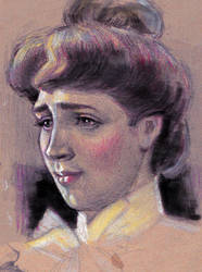 Study of Albert Edelfelt's 'the Parisian' by oosterbe