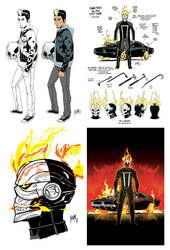 All-New Ghost Rider Preliminary Designs by FelipeSmith