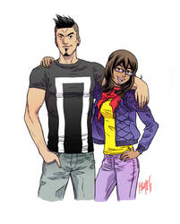 Teen Heroes: Kamala Khan and Robbie Reyes by FelipeSmith