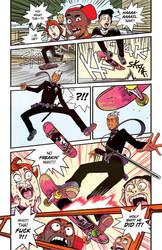 DEATH METAL ZOMBIE COP: Off. Marco Miranda Skates! by FelipeSmith