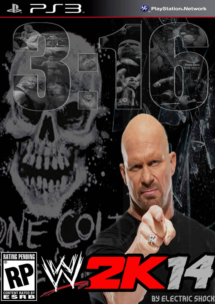 WWE 2k14 Cover Contest Stone Cold Entry by ELSHOCK