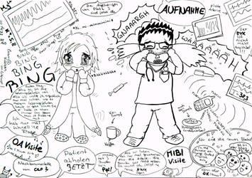 Jung-Assistenten auf der Intensivstation by farbwirbel