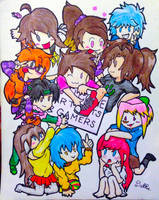 Group of OCs ~ Welcome Artists and Gamers! by DuffieShirayuki