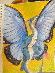 Butterfly Dragon by LoweFantasy