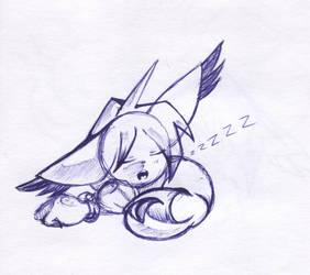 Sleeping cat by Genetta-TO