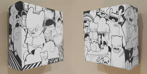 2 mini canvases by thehermitdesign