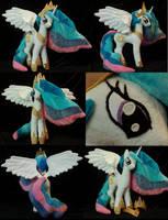My Little Pony Princess Celestia Plushie by WhiteHeather