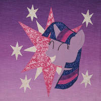 Twilight Sparkle Quilt Square by WhiteHeather
