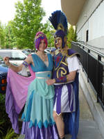 Princess Cadance and Shining Armor cosplay by WhiteHeather